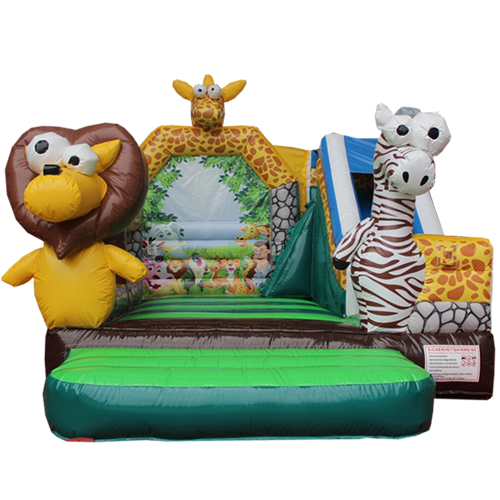 Comprar el Castillo hinchable Animales de la jungla con tobogán-9