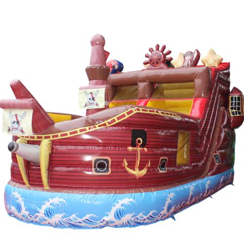 Comprar el Castillo hinchable Barco pirata con tobogán-5