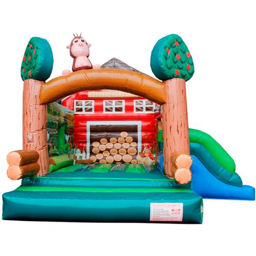 Comprar el Castillo hinchable Cabaña de madera con tobogán-7