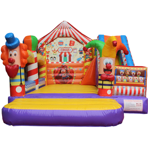 Comprar el Castillo hinchable Circo con tobogán-8