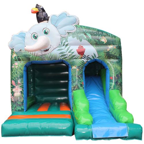 Comprar el Castillo hinchable Elefante con tobogán-2