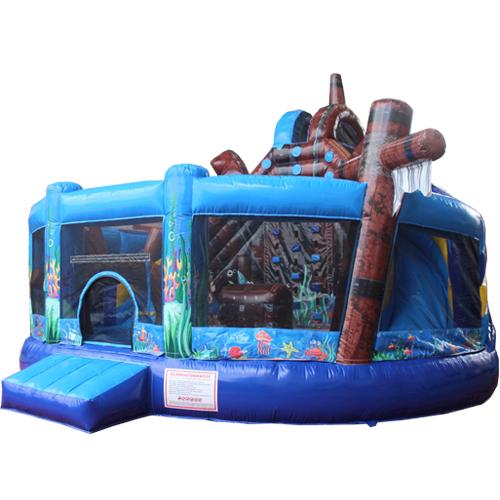 Comprar el Castillo hinchable Multiplay Mundo submarino con tobogán-8