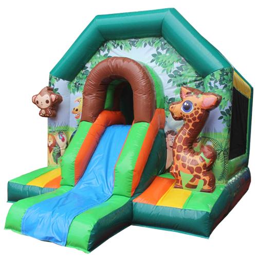 Comprar el Castillo hinchable Safari con tobogán-1