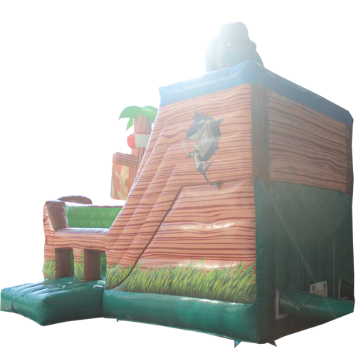 Comprar el castillo hinchable Animales en barco pirata