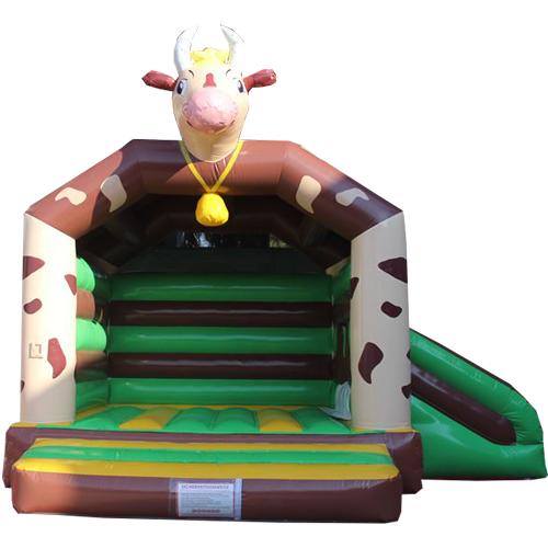 Comprar el castillo hinchable Vaca con tobogán