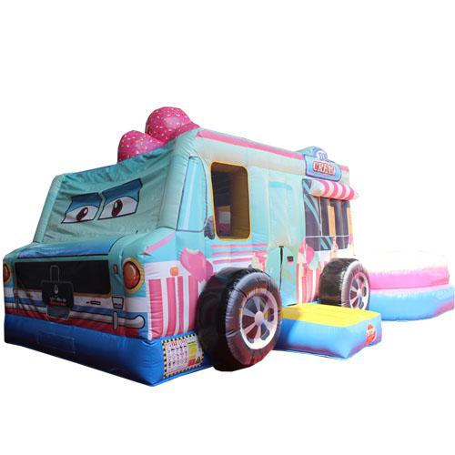 Comprar el Castillo hinchable Camión de helados con tobogán-
