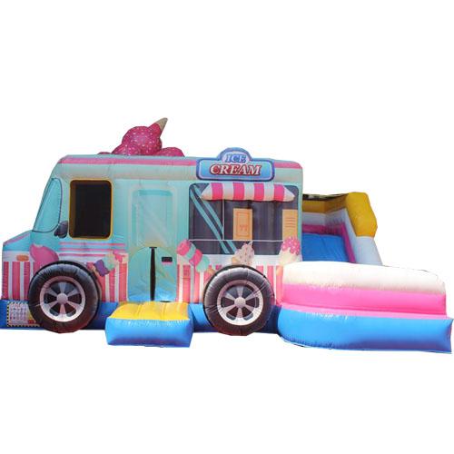 Comprar el Castillo hinchable Camión de helados con tobogán