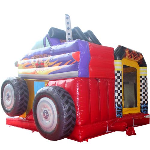 Comprar el Castillo hinchable Camión monstruo con tobogán